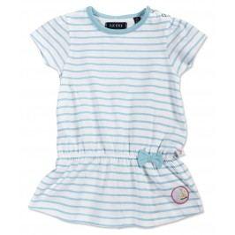 Blue Seven Dívčí proužkovaná tunika - bílo-modrá