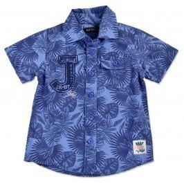 Blue Seven Chlapecká vzorovaná košile - modrá
