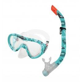 Spokey TAHITI JUNIOR-Sada brýle+šnorchl zelený vodní svět