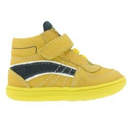Primigi Chlapecké kožené kotníkové tenisky - žluté