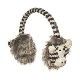 Knitwits Dětské klapky na uši Zebra - barevné