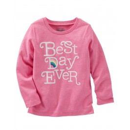 Oshkosh Dívčí tričko Best day - růžové