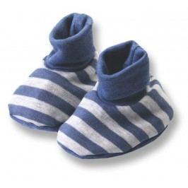 Lafel Chlapecké pruhované ponožky/capáčky Dino - šedé
