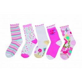 PIDILIDI Dívčí sada 5ks ponožek - barevná