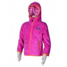 PIDILIDI Dívčí fleecová mikina - růžová