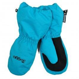 Bugga Dětské zimní rukavice s kožíškem - tyrkysové
