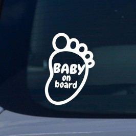 MaDéco Samolepka na auto Baby on board, 20x15 cm