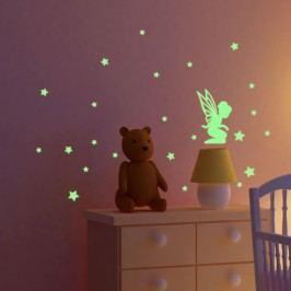 MaDéco Nástěnná svítící samolepka Víla s hvězdičkami