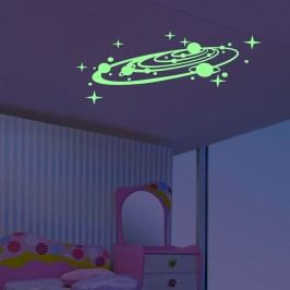 MaDéco Nástěnná svítící samolepka Galaxie