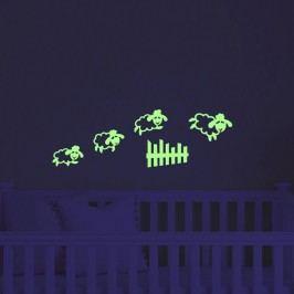 MaDéco Nástěnná svítící samolepka Skákající ovečky