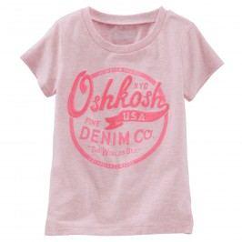 Oshkosh Dívčí tričko snápisem - růžové