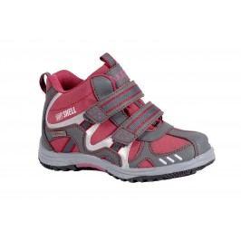 Bugga Softshellová kotníková dětská obuv - červená