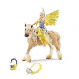 Schleich Víla Sera ve slavnostním oděvu na koni