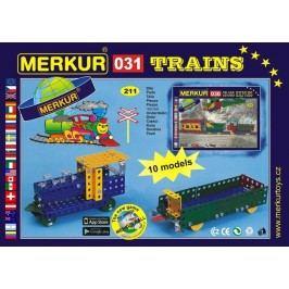 Merkur Stavebnice 031 Železniční modely 10 modelů - 211 ks