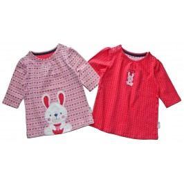 Gelati Dívčí set 2 ks triček s králíkem - barevná
