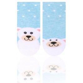 STEVEN Dětské ponožky s medvídkem - modré