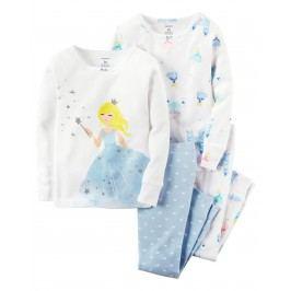 Carter's Dívčí set 2 ks pyžam s princeznou - barevný