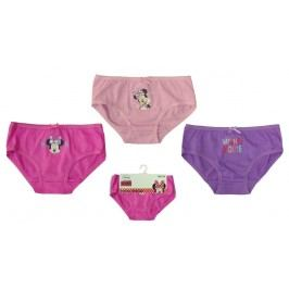 E plus M Dívčí sada 3ks kalhotek Minnie - růžovo-fialová