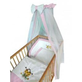 Cosing Dětská 4 dílná sada povlečení De Luxe Včelka - růžový lem