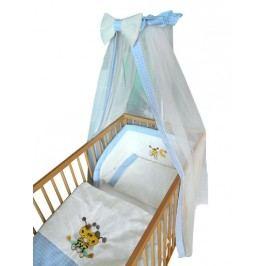 Cosing Dětská 4 dílná sada povlečení De Luxe Včelka - modrý lem