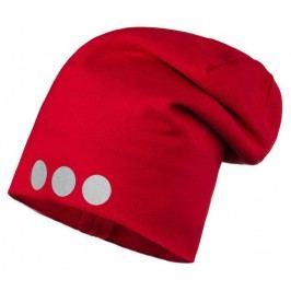 Lamama Dětská čepice s reflexním potiskem - červená