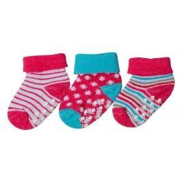 G-mini Dívčí set 3 párů protiskluzových ponožek - barevný