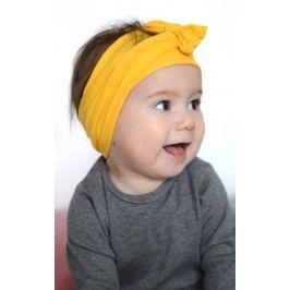 Lamama Dívčí čelenka - žlutá