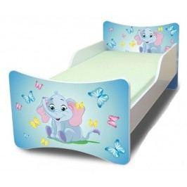 Ourbaby Dětská postel Sloník, 140x70 cm