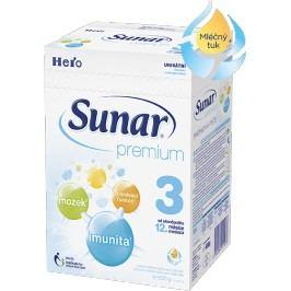 Sunar kojenecké mléko Premium 3, 600g