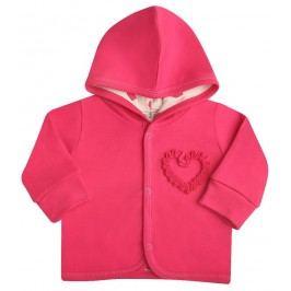 Nini Dívčí kabátek Srdíčko - růžový