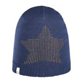 Brekka Dívčí čepice s hvězdou Bling - modrá