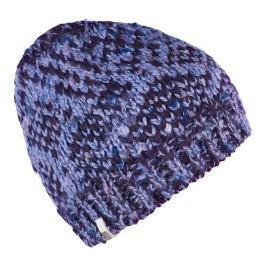 Brekka Dívčí pletená čepice Glitch - fialová