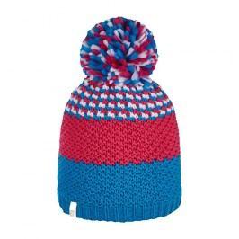 Brekka Dívčí pruhovaná čepice Flake - modro-růžová