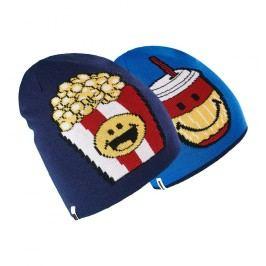 Brekka Chlapecká oboustranná čepice Food Smiley - modrá
