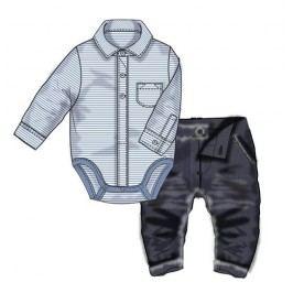 Minoti Chlapecký dvojkomplet kalhoty+body Smart - modrý