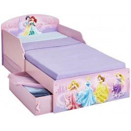 Disney Princess Dětská postel s úložným prostorem 140x70 cm