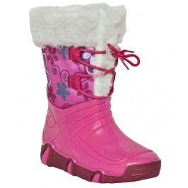 Zetpol Dívčí sněhule s kožíškem Elsa - růžové