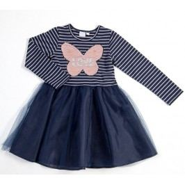 Topo Dívčí šaty s tylovou sukní - modré