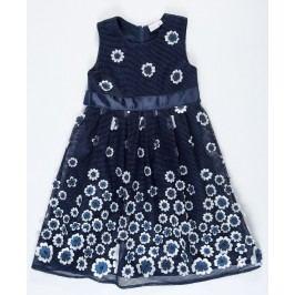 Topo Dívčí šaty s květinami - modré