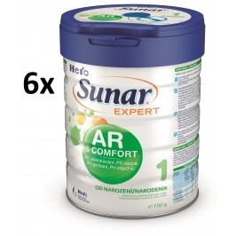 Sunar kojenecké mléko Expert AR/AC - 6 x 700g