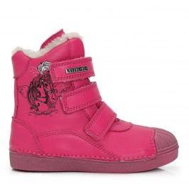 D.D.step Dívčí zateplené kotníkové boty - růžové