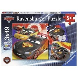 Ravensburger Disney Auta Dobrodružství na silinici 3x49 dílků