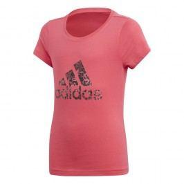adidas Dívčí tričko - růžové