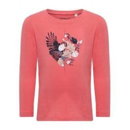 Name it Dívčí tričko s květinami Rose - růžové