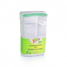 XKKO Skládané bavlněné pleny Bílé - Premium, 6ks