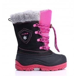 D.D.step Dívčí sněhule - černo-růžové