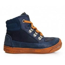D.D.step Chlapecké kotníkové boty modro-oranžové