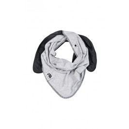 Lamama Dětský oboustranný šátek - černo - šedý
