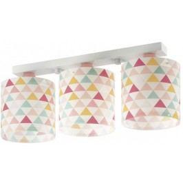 Dalber Dětské stropní svítídlo trojité, trojúhelníky