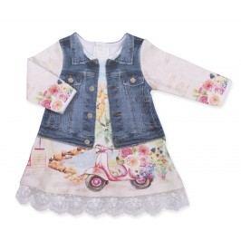 Kitikate Dívčí šaty s 3D designem Ekin - barevné